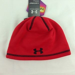 Kids Under Armour Storm1 Infrared Beanie Hat Red